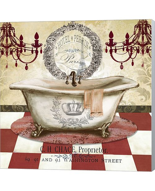 Metaverse Red French Bath I By Tre Sorelle Studios Canvas Art