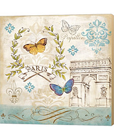 Le Papillon Paris II by Cynthia Coulter Canvas Art