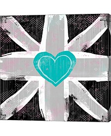 Union Jack Heart II By Louise Carey Canvas Art