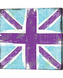 Union Jack Purple An By Louise Carey Canvas Art