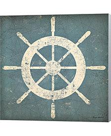 Nautical Shipwheel B By Ryan Fowler Canvas Art