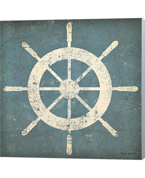 Metaverse Nautical Shipwheel B By Ryan Fowler Canvas Art