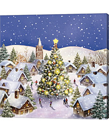 Village Christmas Tr By Dbk-Art Licensing Canvas Art