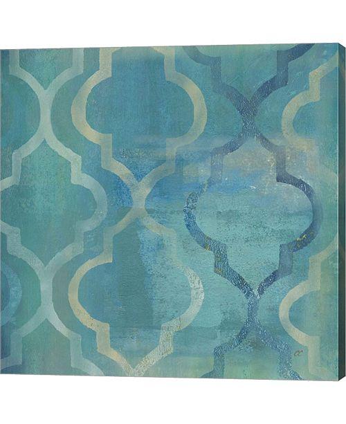 Metaverse Quatrefoil I By Cynthia Coulter Canvas Art