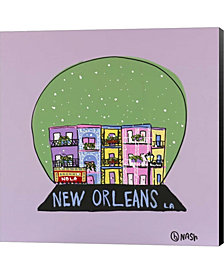 New Orleans Snow Glo By Brian Nash Canvas Art
