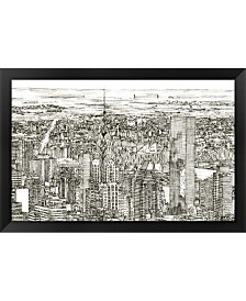 Skyline Sketch I By Melissa Wang Framed Art
