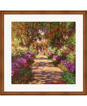 A Pathway In Monets By Claude Monet Framed Art