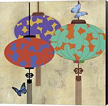 Butterfly Lanterns by Posters International Studio Canvas Art