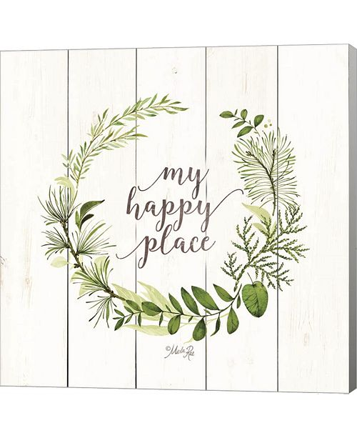 Metaverse My Happy Place Wreath By Marla Rae Canvas Art