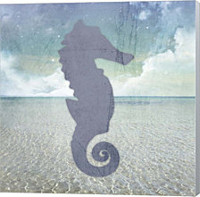 Beach Signs SeaHorse by LightBoxJournal Canvas Art