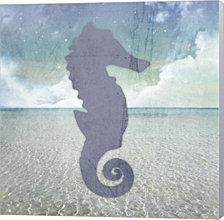 Beach Signs Seahorse By Lightboxjournal Canvas Art