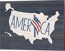 America By Jo Moulton Canvas Art