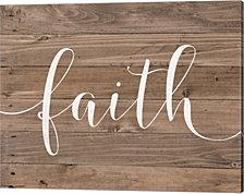 Rustic Faith Script by Jo Moulton Canvas Art