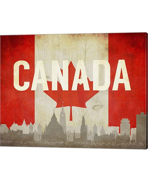 Metaverse Ottawa, Canada - Flags And Skyline By Take Me Away Canvas Art