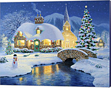 Starlight Village By Heather Burns Canvas Art