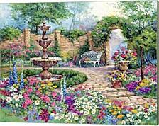 Tranquil Garden By Barbara Mock Canvas Art