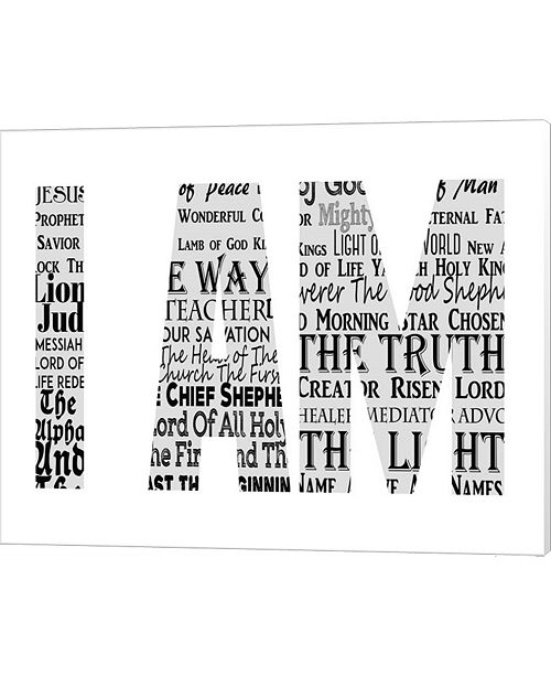 Metaverse Names Of Jesus I Am Silhouette White By Inspire Me Canvas Art