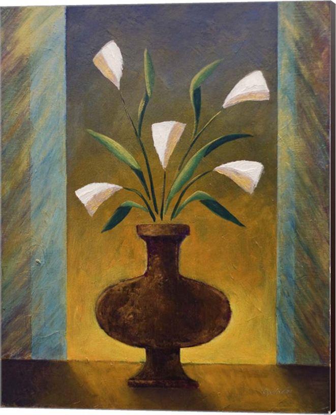 Metaverse Night Flowers By Vessela G. Canvas Art