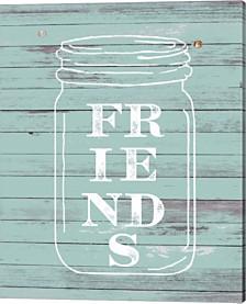 Friends Mason Jar By Ramona Murdock Canvas Art