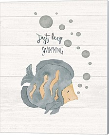 Just Keep Swimming By Jo Moulton Canvas Art