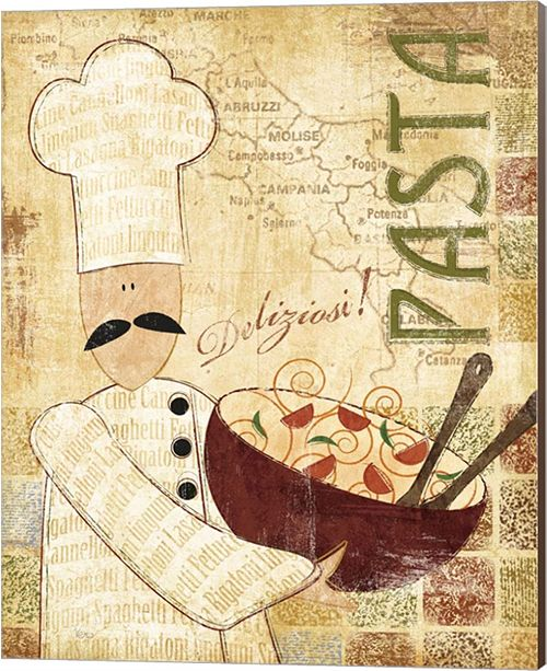 Metaverse Pizza and Pasta Ii By Veronique Canvas Art