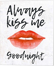 Lips - Kiss Me Goodnight By Color Me Happy Canvas Art