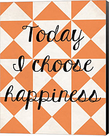 Today I Chose Happiness 2 by Louise Carey Canvas Art