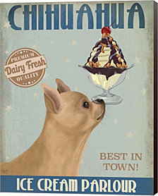 Chihuahua, Fawn, Ice Cream by Fab Funky Canvas Art