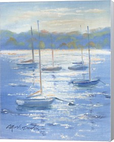 Sunlight Sailboats By Mark Daehlin Canvas Art