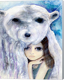 Big Eyed Girl Solitude by Wyanne Canvas Art