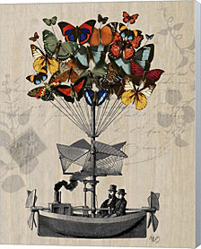 Butterfly Airship by Fab Funky Canvas Art
