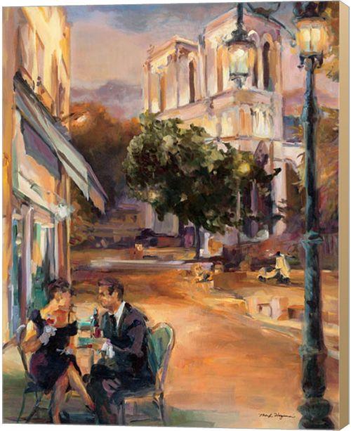 Metaverse Twilight Time In Paris By Marilyn Hageman Canvas Art