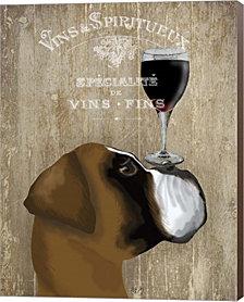 Dog Au Vin Boxer by Fab Funky Canvas Art