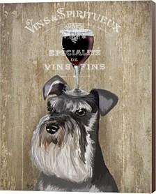 Dog Au Vin, Schnauzer By Fab Funky Canvas Art