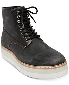 Self Made by Steve Madden Men's Sayne Platform Leather Boots