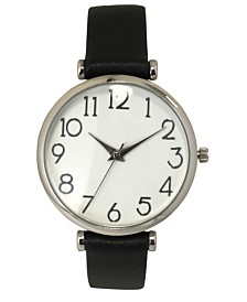 Simple Numerals Leather Strap Watch