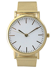Olivia Pratt Women's Stainless Steel Mesh Band Watch