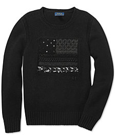 Polo Ralph Lauren Big Girls Graphic Sweater