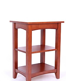 Shaker Cottage 2 Shelf End Table, Cherry