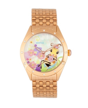 Quartz Ericka Collection Rose Gold Stainless Steel Watch 38Mm