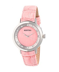 Quartz Cecelia Collection Pinkleather Watch 34Mm