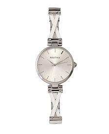 Bertha Quartz Amanda Collection Silver Stainless Steel Watch 36Mm