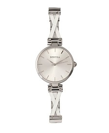 Bertha Quartz Amanda Collection Silver Stainless Steel Watch 36Mm