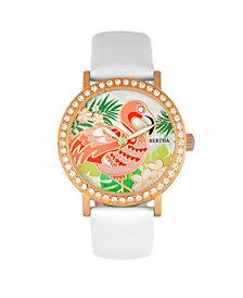 Bertha Quartz Luna Collection White Leather Watch 35Mm