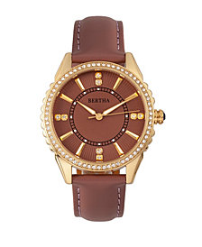 Bertha Quartz Clara Collection Mauve Leather Watch 39Mm