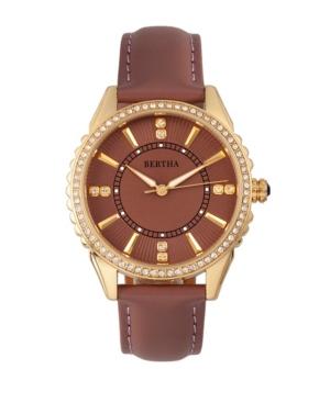 Quartz Clara Collection Mauve Leather Watch 39Mm