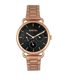 Bertha Quartz Gwen Collection Rose Gold Stainless Steel Watch 36Mm
