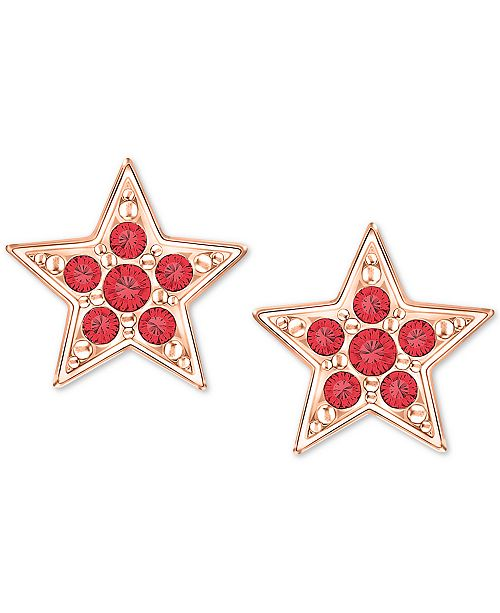 Rose Gold Tone Crystal Star Stud Earrings Created For Macy S