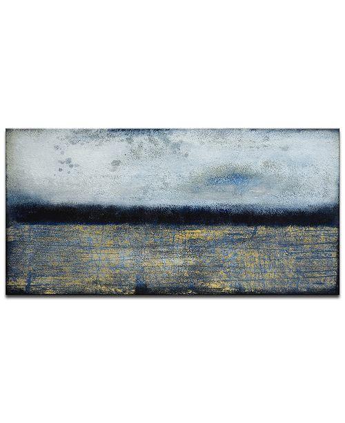 "Ready2HangArt 'Neutral Haze' Abstract Canvas Wall Art, 18x36"""