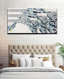 Ready2HangArt 'Unique Fish' Abstract Canvas Wall Art Set Collection